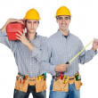 Stock Photo: Two construction workers