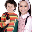 Stock Photo: Two smalls students