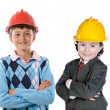 Two engineer futures — Stock Photo