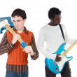 Young musicians with electric guitar — Stock Photo