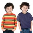 Funny couple of children twin — Stock fotografie