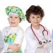 Four future workers — Foto Stock