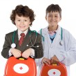 Couple of future doctors — Stock Photo #9627199