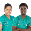 Medical team of four doctors — Stock Photo