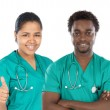 Medical team of four doctors — Stock Photo #9627213