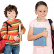 Lovables students childrens — Stock Photo