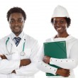 African americans doctor and engineer — Stock Photo #9627318