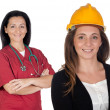 Couple of women workers — Stock Photo