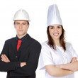 Couple of workers — Stock Photo #9627411