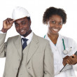 Couple of african workers — Stock Photo #9627421