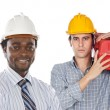 Employees of the construction — Stock Photo