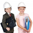 Stock Photo: Two engineer futures