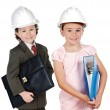 Two engineer futures - Stockfoto