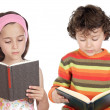 Children reading — Stockfoto