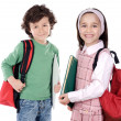 Stock Photo: Two childrens students