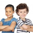 Two children of different races — Stock Photo #9627478