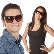 Royalty-Free Stock Photo: Young couple wearing sunglasses
