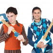 Stock Photo: Young musicians with electric guitar