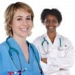 Two women doctor — Stock Photo