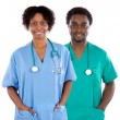 Couple of AfricAmericans doctors — Stock Photo #9627617