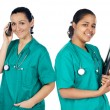 Couple of doctors woman — Stock Photo
