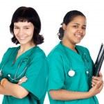 Couple of doctors woman — Stock Photo #9627780