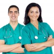 Couple of doctors — Stock Photo