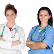 Two doctor women — Stock Photo