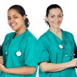 Couple of doctors woman — Stock Photo #9627890