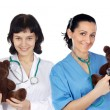 Stock Photo: Couple of doctors woman