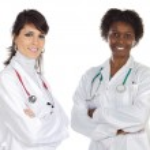 Multi-ethnic medical team — Stock Photo