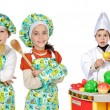 Children learning to cook — Foto de stock #9627981