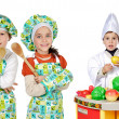 Children learning to cook — Stockfoto