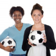 Female soccer players — Stock Photo #9628048