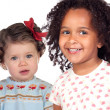 Two beautiful baby girls of different races — Stock Photo #9628074