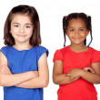 Royalty-Free Stock Photo: Adorable girls with crossed arms