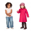 Adoable couple of little girls — Stock Photo