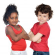 Two beautiful children of different races — Stock Photo #9628117