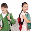 Students returning to school — Stockfoto