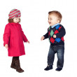 Adoable couple of little children — Stock Photo #9628164