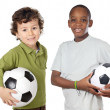 Children with soccer ball — Stock Photo #9628185