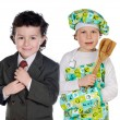 Future cook and businessman — Stock Photo #9628220
