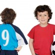 Children with soccerball — Stock Photo #9628287