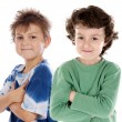 Funny couple of children — Stock Photo