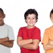 Childrens group with crossed arms — Stock Photo