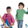 Two children whit electric guitar — Stock Photo