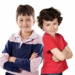 Two children smiling — Stock Photo #9628402
