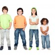 Four beautiful and different children — Stock Photo