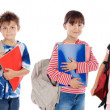 Many children students returning to school - 图库照片