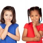 Four pensive children — Stock Photo #9628498